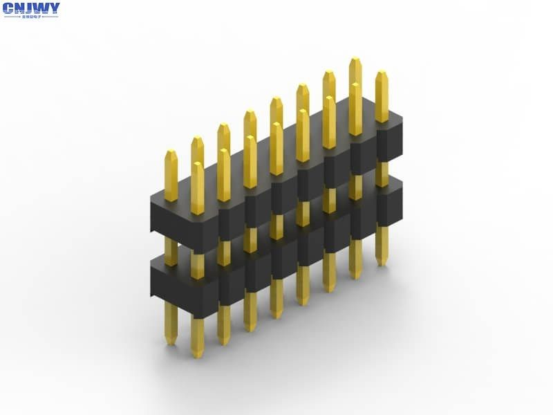 Gold Flash Straight Pin Header , Printed Circuit Board Surface Mount Pin Header